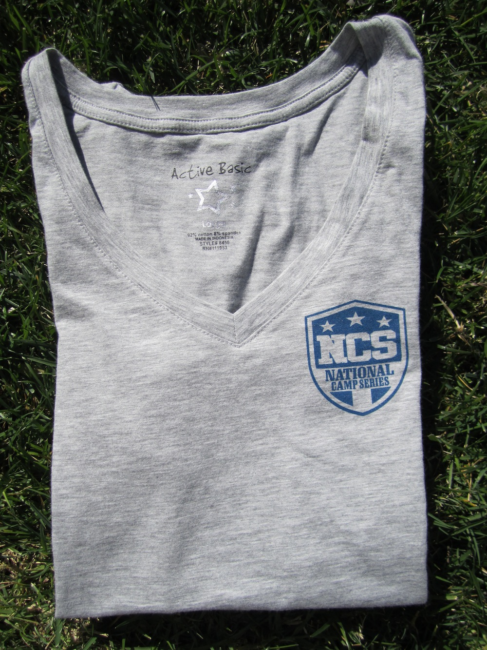 Women's Logo Tee - Vneck - Heather Grey